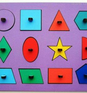 Пазлы вкладыши геометрия