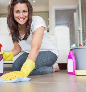 Уборка квартир, мытьё окон....