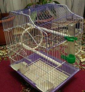 Клетка для попугая. Новая.
