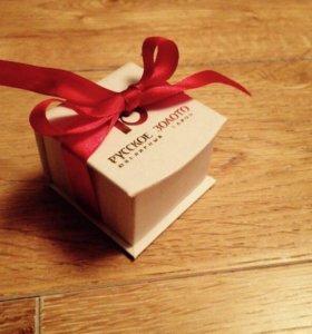 Подарочная коробочка для украшений. Русское золото