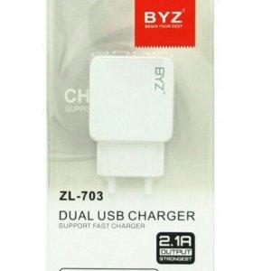 СЗУ BYZ ZL-703 2 выхода USB 2,1А