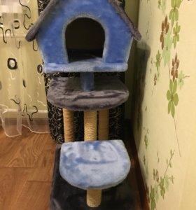 Домик для кошки с когтеточками