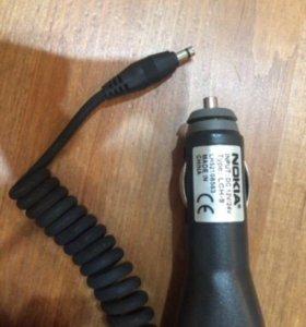 Nokia зарядка в авто - широкий штекер