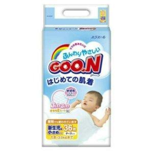 Подгузники для недоношенных детей от 1,8-3кг Goon