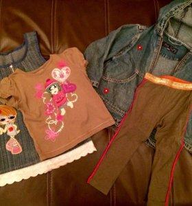 Одежда (джинсовка, футболка, леггинсы, сарафан)