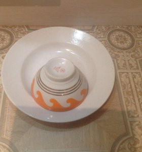 Тарелка и пиала