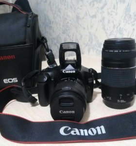 Canon 1100D +2объектива+сумка+32gb