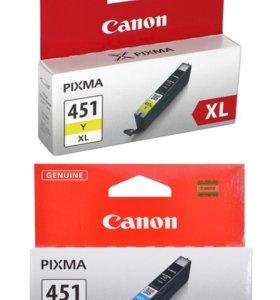 Картридж струйный ориг. новый Canon 451XL черн цв