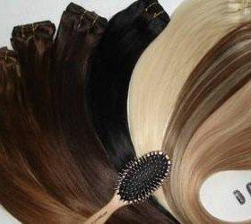 Натуральные волосы на заколках и трессе