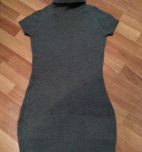 Тёплое вязаное платье terranova S