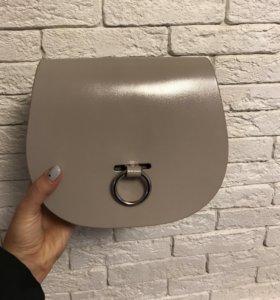 Leather satchel сумка кожаная