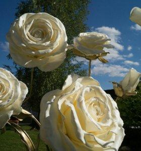 Большие ростовые цветы из изолона и фоамирана