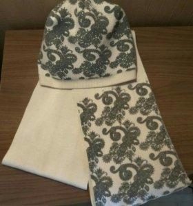 Комплект (шапка + шарф)
