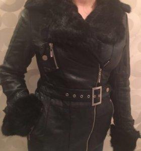 Кож зам куртка с мехом