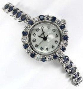 часы серебро 925 с сапфиром