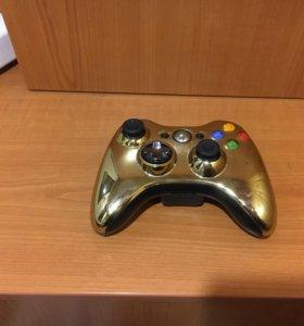 Джойстик для Xbox 360 золотой оригинал