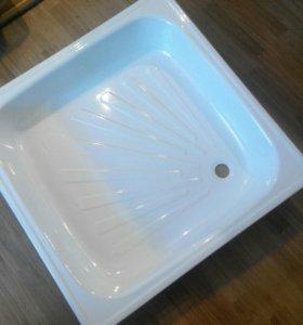 Поддон для душа (800*800, новый) и чугунная ванна