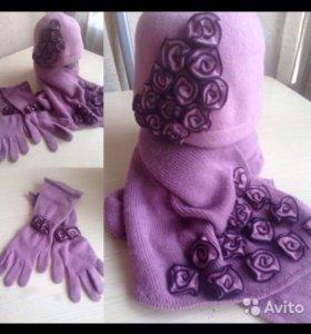 шапка/шарф/перчатки, кепки