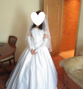 Свадебное платье шелковое