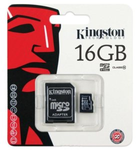 Карта памяти 16 Gb (10 class, microSD)