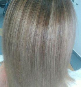 Балаяж, кератиновое выпрямление волос