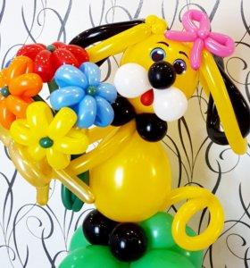 Зверюшка с букетиком из шаров