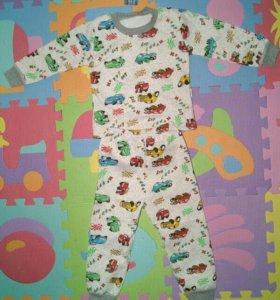 Пижамы детская, теплая, файловая 100% хлопок