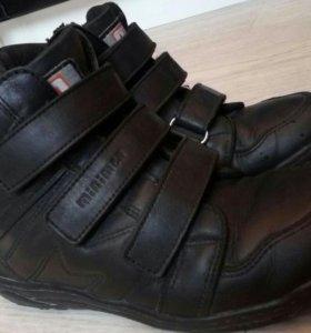 Ботинки с артопедической стелькой, нат. кожа.