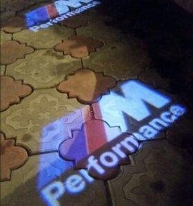 Подсветка в двери BMW M Perfomance