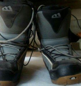 Ботинки сноубордические, б/у.