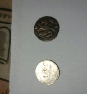 Монеты амер и старинная медная