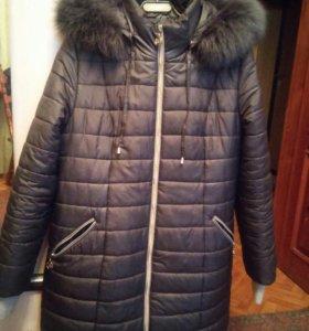 Куртка осень , мех песец