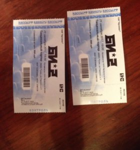 Билеты на Би-2 (2 штуки)