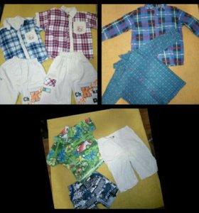Детская одежда на мальчика 2-3 года, рубашки