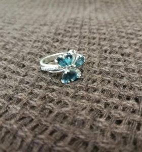 Новое серебряное кольцо с топазами (17)