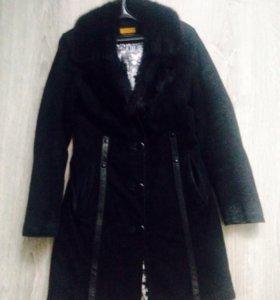 Пальто демисезонное замшевое