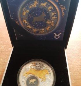 Подарочная серебрянная монета