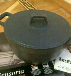Набор кастрюля+сковорода tefal sensoria