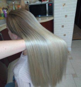 Стрижка и окрашивание волос