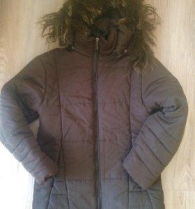 Куртка с утеплителем на синтепоне,в хорошем состоя