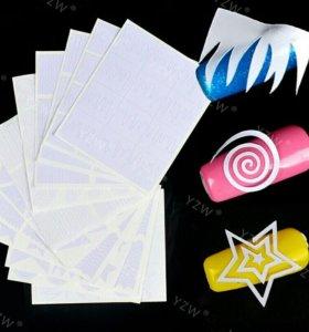 Трафареты для дизайна ногтей 12 листов