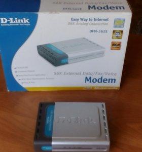 Факс-модем внешний D-Link DFM-562E