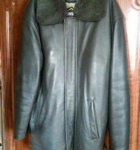 Куртка кожаная с цигейковой подстежкой