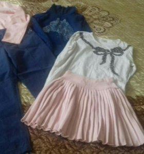 Вещи пакетом на девочку 8-10 лет