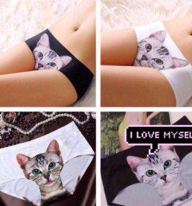 Трусы женские с котом