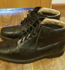 мужские ботинки осенние почти новые, нат.кожа