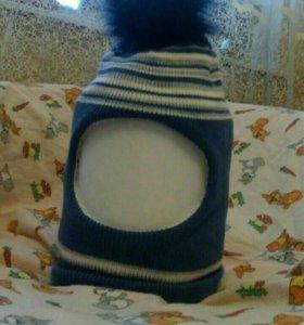 Шапка-шлем дет. Новая, осень-зима
