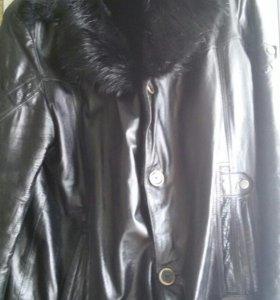 Куртка кожа/мех мужская 56 размер