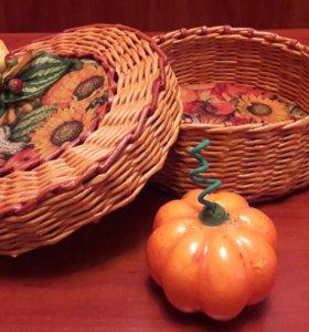 Шкатулка-корзинка плетеная подарочная
