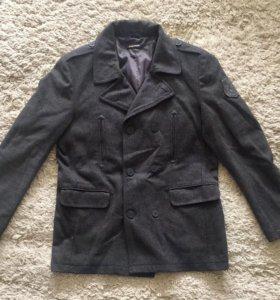 Весеннее шерстяное пальто Zara Размер XL